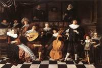 Molenaer 1638 Family Making Music - PD Image