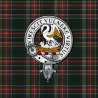 Stewart Scottish Clan Badge and Tartan