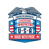 Made In America Patriotic Shield Retro