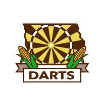 Dart Board Iowa State Map Corn Retro