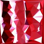 """Barn Red Abstract Low Polygon Background"" by patrimonio"