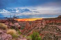 Sunset Burning Ridge Colorado National Monument