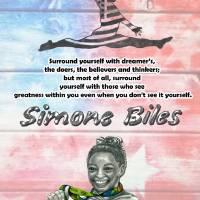 Simone Biles Art Prints & Posters by Carol Richardson