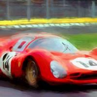 Ferrari 330p 1966 Art Prints & Posters by Tom Sachse