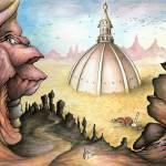"""Sunken City - Surrealistic Art Painting"" by Art-America"