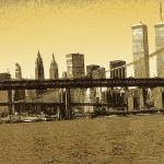 """New York Downtown Manhattan Skyline 1 - Drawing"" by Art-America"
