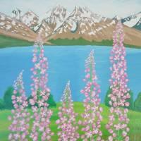 Fireweeds in Alaska Art Prints & Posters by Alina Deutsch