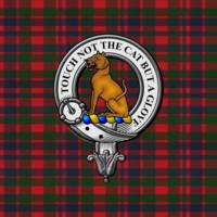 Gow Scottish Clan Badge and Tartan