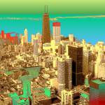 """Chicago Colors - Digital Artwork"" by Art-America"