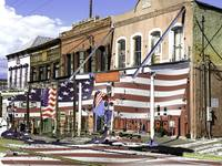 Virginia City Facades - Painting Art