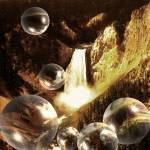 """Yellowstone Bubbles - Digital Artwork"" by Art-America"