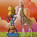 """Robots On Safari"" by c"