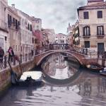 """Venice Cannaregio Canal - Oil Painting"" by Art-America"