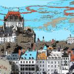 """Quebec City Canada - Digital Artwork"" by Art-America"