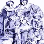 """""""Mother Goose Reading To Children"""" by mariancates"""