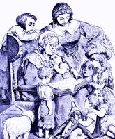 Mother Goose Reading To Children