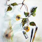 """Still Life Seeds Pods Clematis Artist Tools"" by GinetteCallaway"