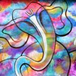 """""""Manomay Ganesha colorful abstract painting"""" by mkanvinde"""