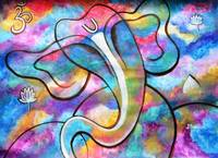 Manomay Ganesha colorful abstract painting