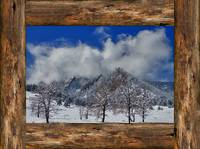 Snowy_Boulder_Flatirons_Rustic_Wood_Winow