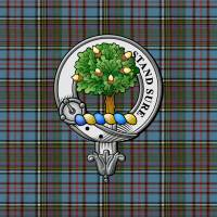 """Anderson Scottish Clan Badge and Tartan"" by ivycreekstudio"