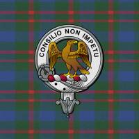 """Agnew Scottish Clan Badge and Tartan"" by ivycreekstudio"