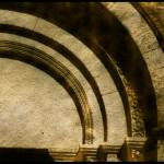 """outside arches vezelay basilica france"" by jnanian"