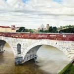 """""""Lovers Bridge in Verona"""" by matteopaints"""
