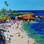La Jolla Cove San Diego California Calm Sea by RD Riccoboni