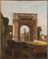 The Arch of Titus and the Forum, Rome, French Pain