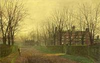 John-Atkinson-Grimshaw-Paintings-Autumn-Afterglow-