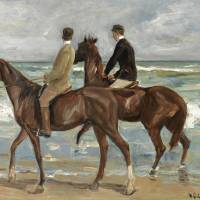 """Max Liebermann, Riders on the Beach"" by motionage"