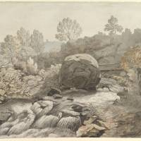 """A Rocky Stream, Italy, Samuel Woodforde"" by motionage"