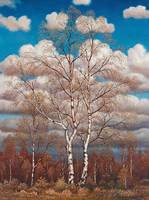 OSKAR BERGMAN,   (BIRCHES IN THE SPRING).