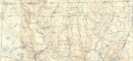 USGS Topographical Map - Exeter, RI - 1894