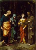 Saints Peter, Martha, Mary Magdalen, and Leonard A