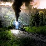 """Mountain Railway - Morning Whistle"" by robertfrederick"