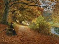 Wooded Path In Autumn, Hans Andersen Brendekilde