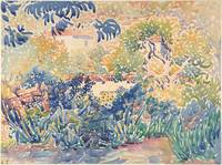 The Artist's Garden at St. Clair , Henri-Edmond Cr