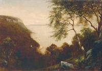 David Johnson (1827-1908), Palisades and the Hudso