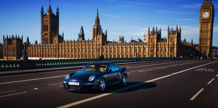Porsche on Westminster Bridge