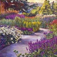 SPRING GARDEN PATH Art Prints & Posters by David Lloyd Glover