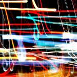 """Abstract Squiggles-Tail Lights NYC"" by Acedarter"