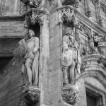 """Guarding the Grand Place - Black and White"" by Groecar"