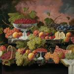 """Severin_Roesen , Still Life with Fruit,"" by motionage"