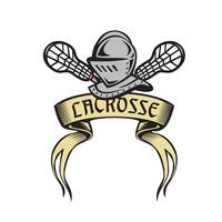Knight Armor Lacrosse Stick Woodcut