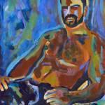 """Sept 2016 Sultry Bear Blue"" by RDRiccoboni"