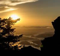 Columbia River Sunset from Larch Mountain