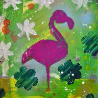 Beverly Hills Flamingo Art Prints & Posters by John Gascot