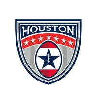 Houston 2017 American Football Big Game Crest Retr